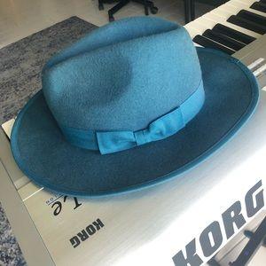 Free people blue felt hat